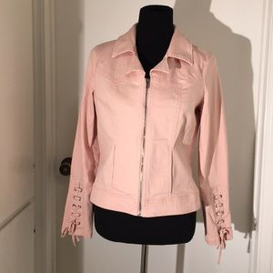 Baccini Jean Jacket size M & it's pink